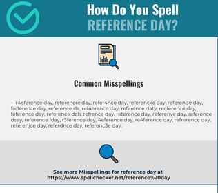 Correct spelling for reference day