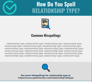 Correct spelling for relationship type