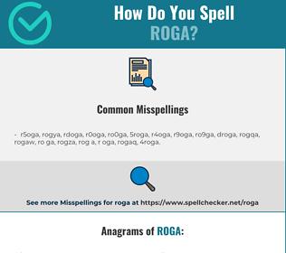 Correct spelling for roga