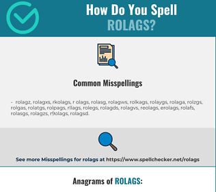 Correct spelling for rolags