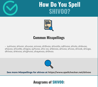 Correct spelling for shivoo