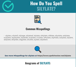 Correct spelling for silylate