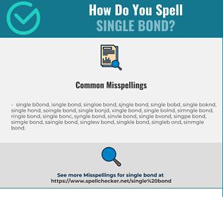 Correct spelling for single bond