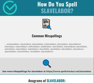 Correct spelling for slavelabor