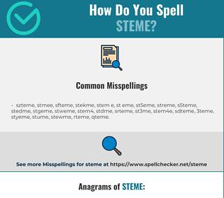 Correct spelling for steme