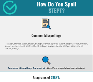 Correct spelling for stept