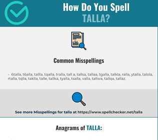Correct spelling for talla