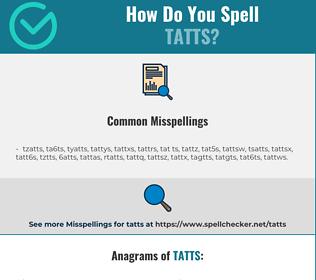 Correct spelling for tatts