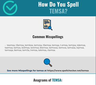 Correct spelling for temsa