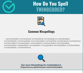 Correct spelling for twinbedded