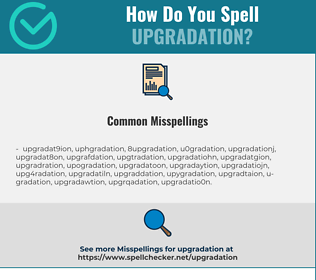 Correct spelling for upgradation