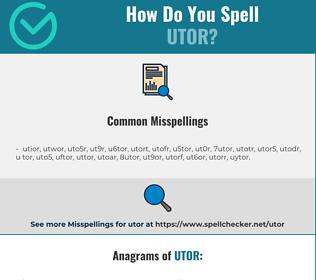 Correct spelling for utor