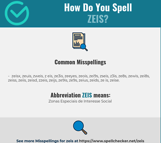 Correct spelling for zeis