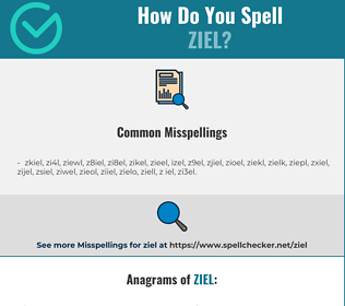 Correct spelling for ziel