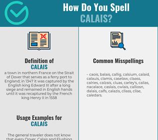 Correct spelling for calais
