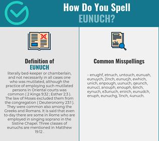 Correct spelling for eunuch