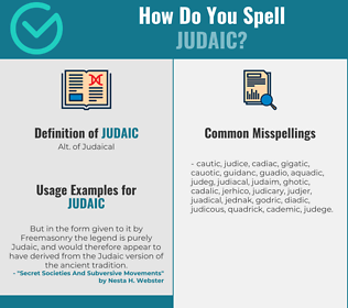 Correct spelling for judaic