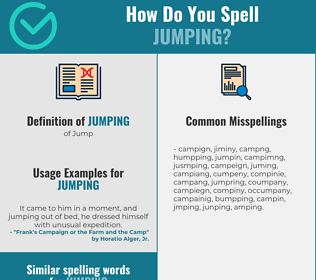 Correct spelling for jumping