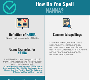 Correct spelling for nanna