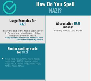 Correct spelling for nazi