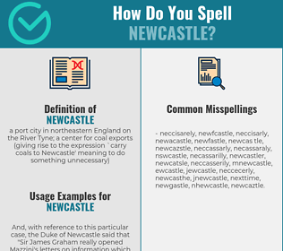 Correct spelling for newcastle