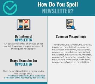 Correct spelling for newsletter