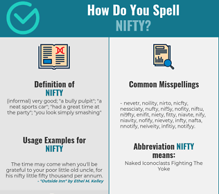 Correct spelling for nifty