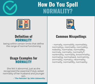 Correct spelling for normality