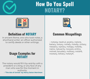 Correct spelling for notary