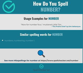 Correct spelling for number