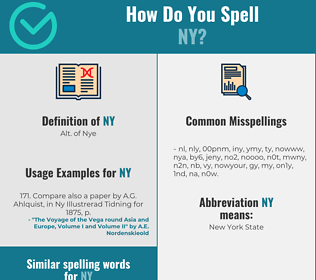 Correct spelling for ny
