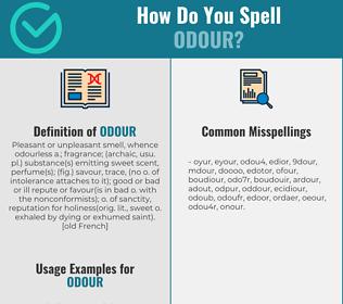 Correct spelling for odour