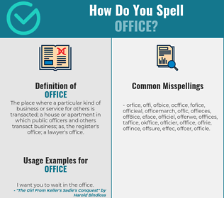 Correct spelling for office
