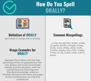 Correct spelling for orally