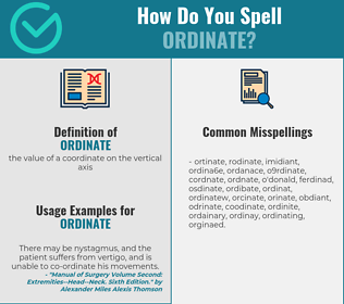 Correct spelling for ordinate