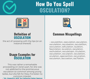 Correct spelling for osculation