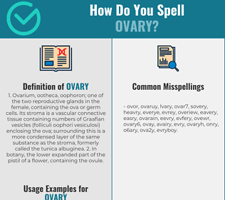 Correct spelling for ovary