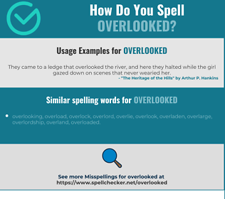 Correct spelling for overlooked