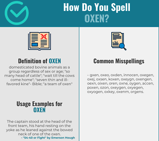 Correct spelling for oxen