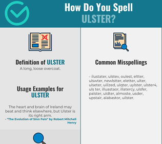 Correct spelling for ulster