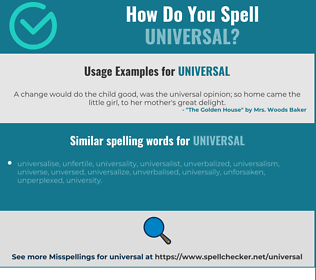 Correct spelling for universal