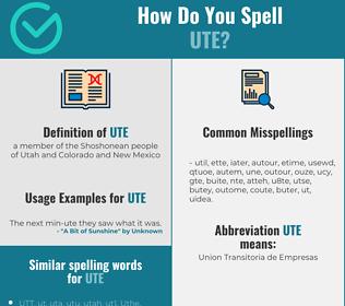 Correct spelling for ute