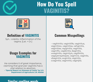 Correct spelling for vaginitis