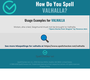 Correct spelling for valhalla