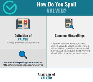 Correct spelling for valved