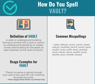 Correct spelling for vault