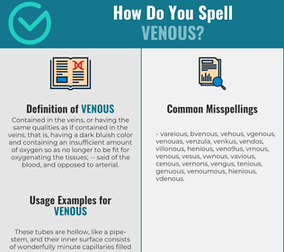 Correct spelling for venous
