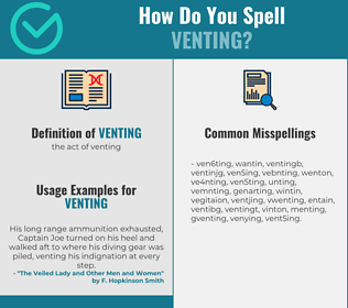 Correct spelling for venting