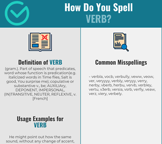 Correct spelling for verb