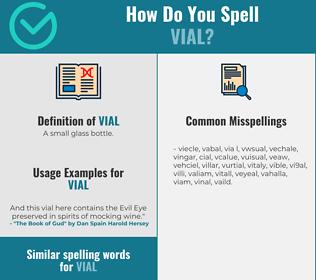 Correct spelling for vial